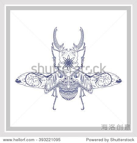甲虫产品手绘线稿