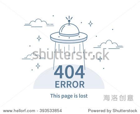 design 404 error. vector concept illustration for图片