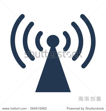 无线电天线图标 - 符号/标志,抽象 - 站酷海洛创意,,.