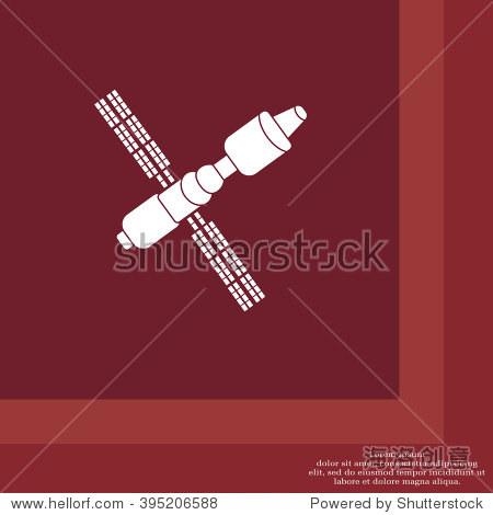 卫星信号图标,矢量图.平面设计风格