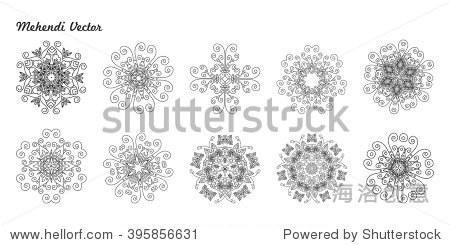 装饰设计,花边点缀,圆形图案的细节