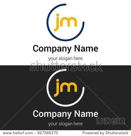 jm business logo icon design template elements.图片