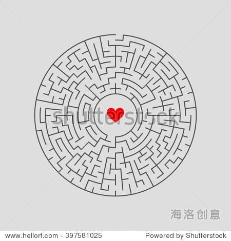 矢量图的圆迷宫用一些错误的方法