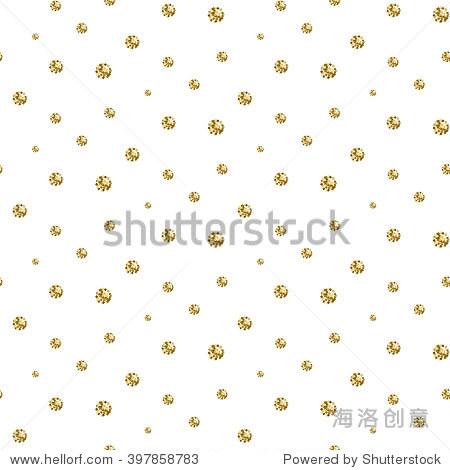 gold foil glitter polkadot seamless pattern.