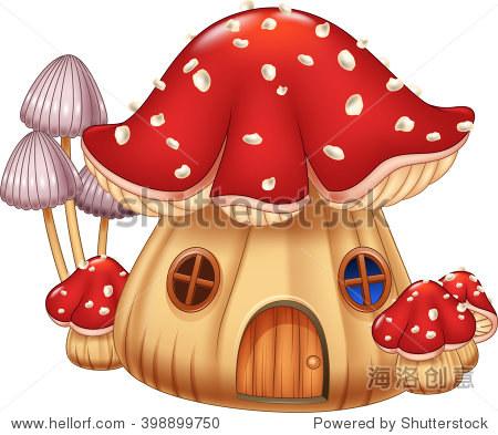 插图蘑菇房子