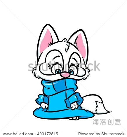 Cute cat white sweater cartoon illustration isolated image animal character