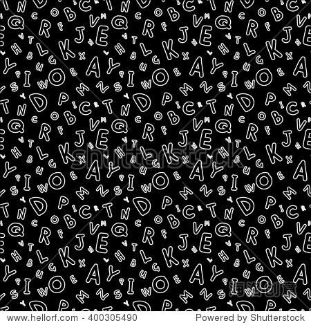 电路卡通stylel.手工制作的儿童铭文分散字母.