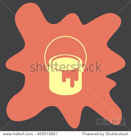油漆桶矢量图标