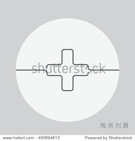 医学矢量插图.医疗十字架图标.医学隔离背景