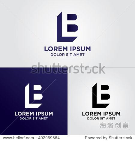 首字母b標志設計模板