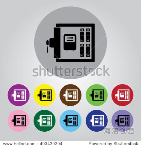 电气配电箱矢量图标-符号/标志,其它-海洛创意正版