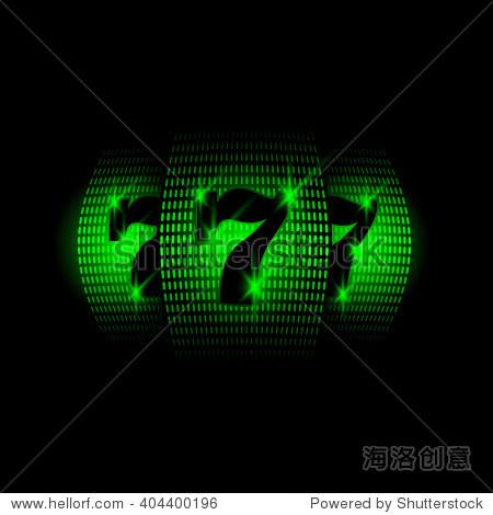 赌场老虎机.霓虹灯矢量图