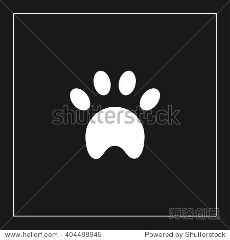 爪子矢量图 - 动物/野生生物,符号/标志