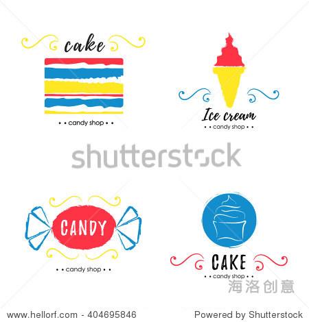 蛋糕 甜甜圈 棒棒糖 食品及饮料,符号 标志 海洛创意正版图片,视