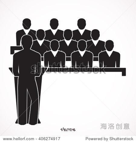 扬声器图标.讲台,公众,扬声器图标矢量图.还可用于活动.