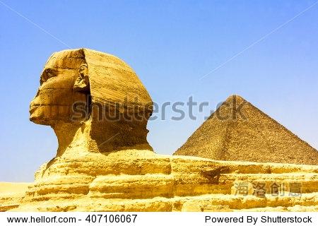 埃及金字塔在吉萨-建筑物/地标,抽象-海洛创意正版