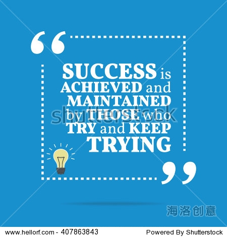 success is achieved and maintained by those who try and keep