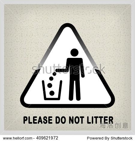 人们把垃圾扔进垃圾