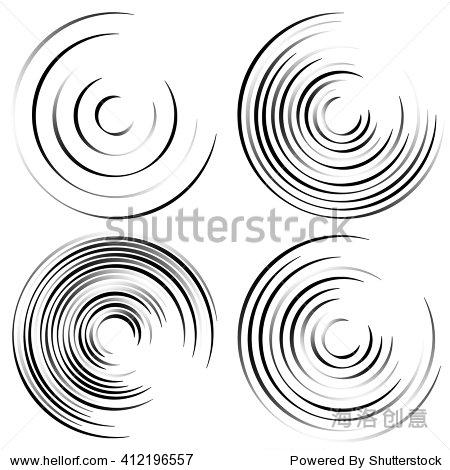 抽象的螺旋形状,螺旋状旋转的圆形元素集.