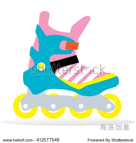 滑矢量。溜冰鞋视频外国。-旱冰/插图,v矢量/娱符号标志怒路图片