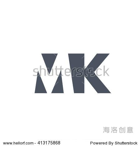 mk logo. vector graphic branding letter element.图片