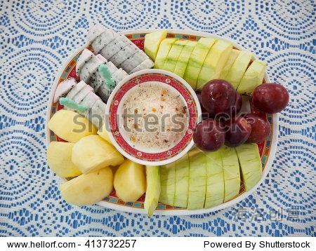 水果拼盘 可爱人像