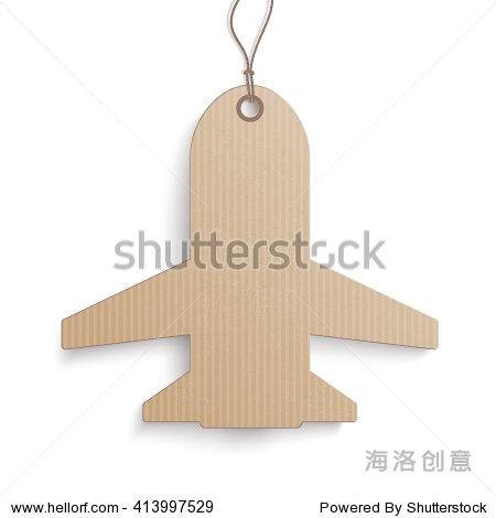纸板纸飞机在白色背景上.每股收益10矢量文件.