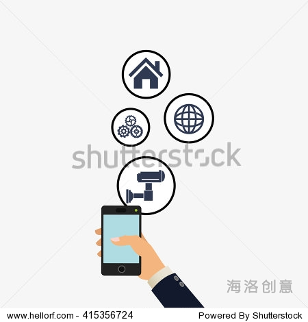 social media design. media icon. technology concept图片