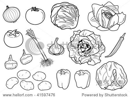 什锦蔬菜水果矢量