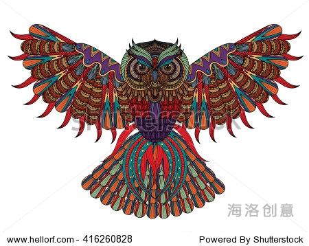 猫头鹰风筝卡通图片展示