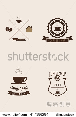 咖啡店的标志设置