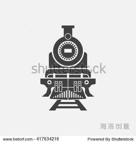蒸汽火车图标,火车图标矢量,火车,火车平坦的图