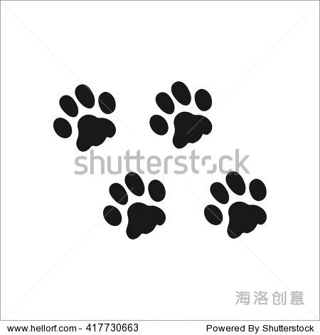 宠物猫爪印标志简单的图标背景