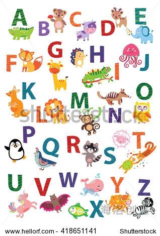 幼儿园墙艺术,动物主题