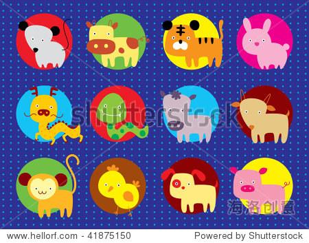 可爱动物的星座 - 动物/野生生物,插图/剪贴图 - 站酷