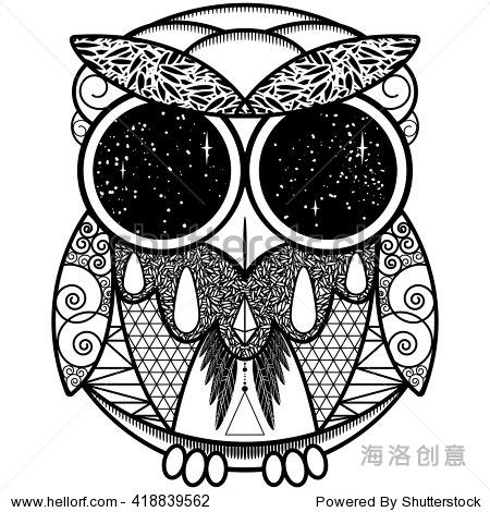 纹身风格.几何.星星的眼睛.-动物/野生生物