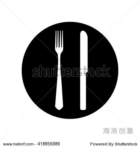 餐具图标矢量图-物体,符号/标志-海洛创意正版图片