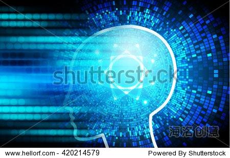 深蓝色的光文摘技术背景为计算机图形网站互联网业务.电路.插图.