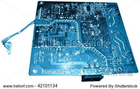 蓝色电路板