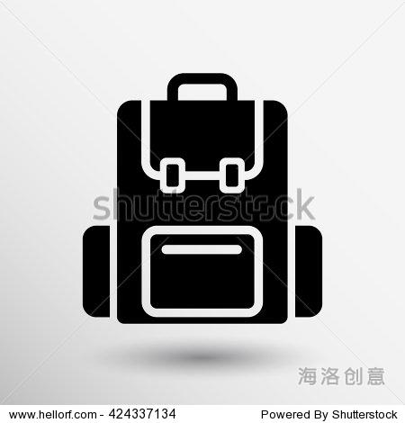 背包旅行图标书包研究标志象征图形标志 符号 标志,美容 时装服饰