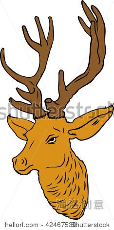 纸箱手工制作鹿头