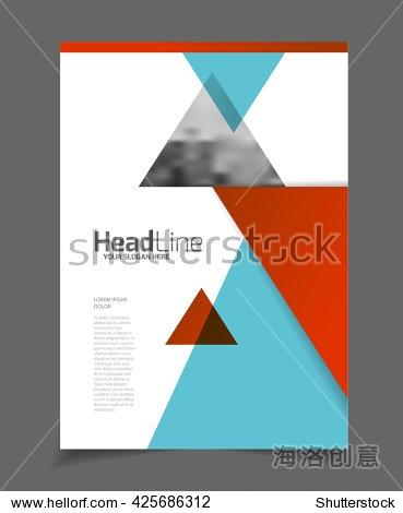 传单小册子宣传单模板a4尺寸设计,商业目录涵盖布局设计,抽象的表示