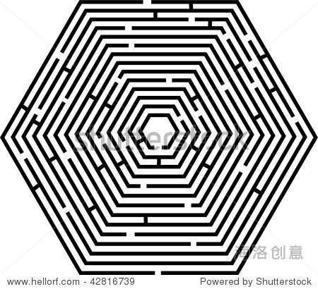 迷宫的矢量图形的形式一个秋千