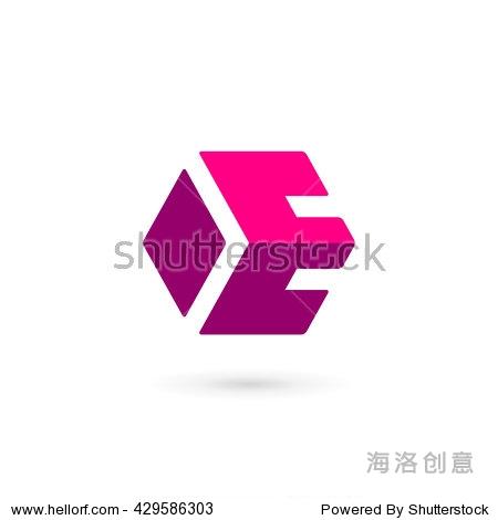 字母e标志图标设计模板元素