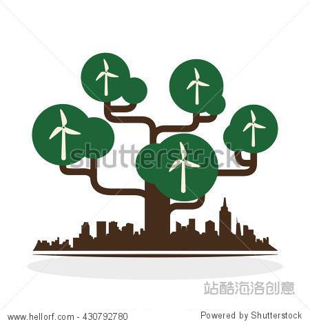 eco design. green icon. isolated illustration vector图片