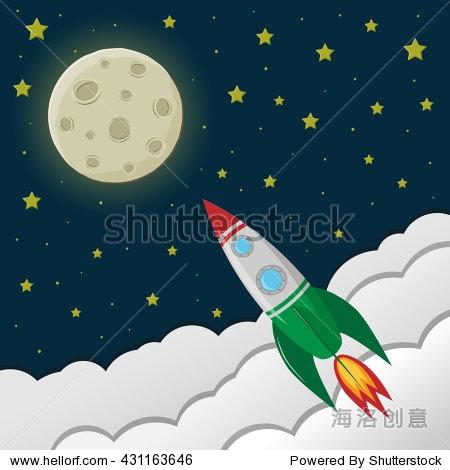 到太空旅行.星空,月亮.