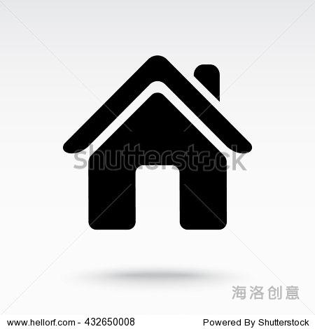 房子图标,标志矢量图.平面设计风格