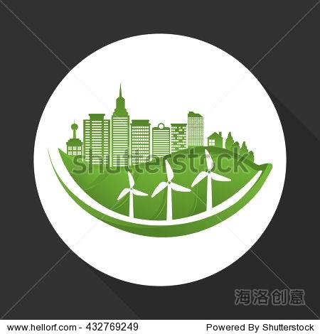 eco design. green icon. isolated illustration , vector图片