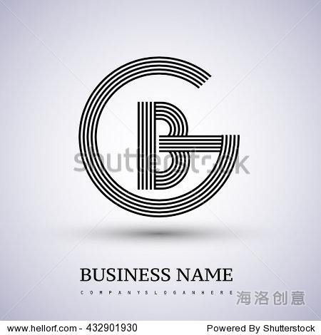 ?BG???_letter gb or bg linked logo design circle g shape