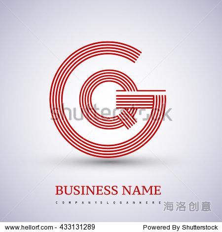 letter gq or qg linked logo design circle g shape
